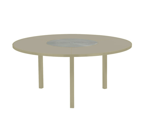 O-Zon OZN 185 table with S/S center by Royal Botania | Dining tables