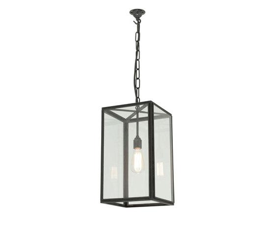 7639 Small Square Pendant, External Glass, Weathered Brass, Clear Glass de Original BTC | Iluminación general