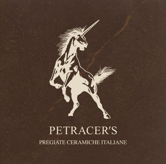 Carisma Italiano Logo marrone collemandina originale de Petracer's Ceramics | Carrelage céramique