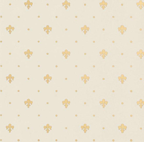 Grand Elegance Gold giglio oro su panna by Petracer's Ceramics | Ceramic tiles