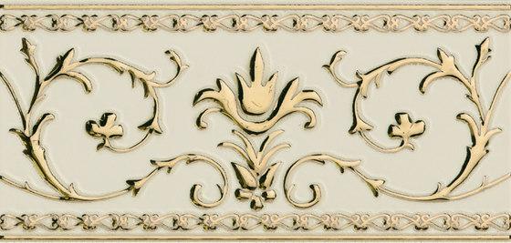 Grand Elegance Gold narciso A oro su panna de Petracer's Ceramics | Carrelage céramique