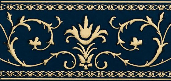 Grand Elegance Gold narciso A oro su blu de Petracer's Ceramics | Carrelage céramique
