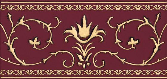 Grand Elegance Gold narciso A oro su bordeaux by Petracer's Ceramics | Ceramic tiles