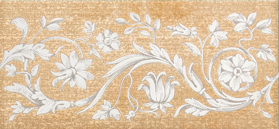 Grand Elegance gemelli con cornucopia su panna B de Petracer's Ceramics | Carrelage céramique
