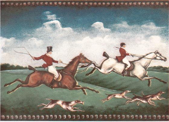 Grand Elegance country life fox hunting B by Petracer's Ceramics | Ceramic tiles