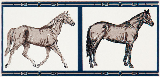Grand Elegance country life horses A green de Petracer's Ceramics | Carrelage céramique