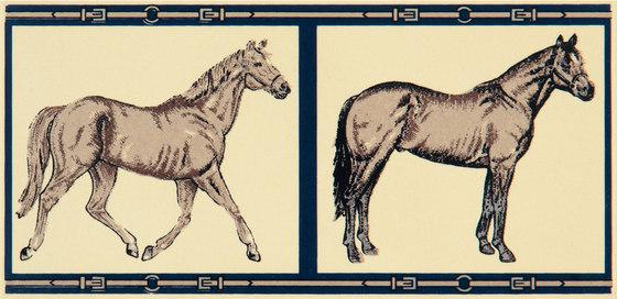 Grand Elegance country life horses B green de Petracer's Ceramics   Carrelage céramique