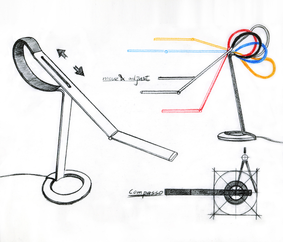 Compasso de QisDesign | Luminaires de table