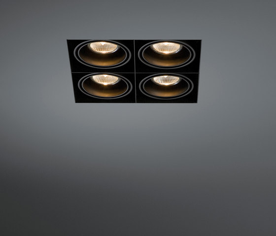 Mini multiple trimless 4x GU10 by Modular Lighting Instruments | Recessed ceiling lights