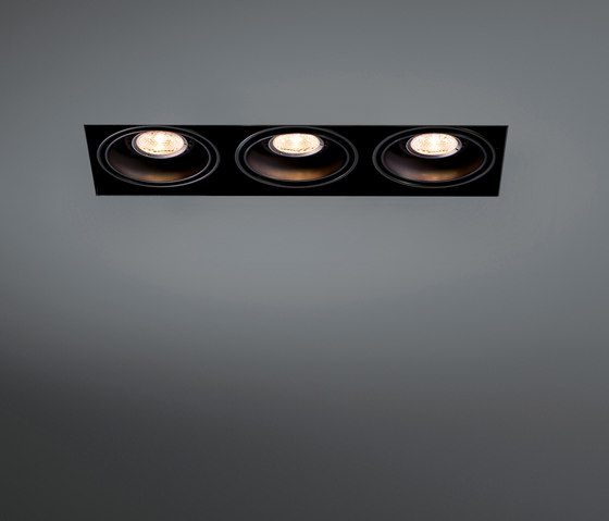 Mini multiple trimless 3x LED retrofit by Modular Lighting Instruments | Recessed ceiling lights