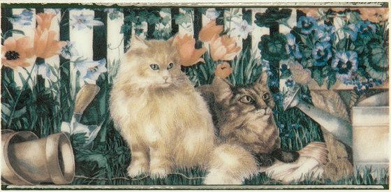 Grand Elegance country life cats su panna A de Petracer's Ceramics | Carrelage céramique