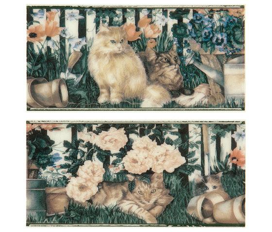 Grand Elegance country life cats su panna B de Petracer's Ceramics | Carrelage céramique