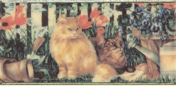 Grand Elegance country life cats su crema A by Petracer's Ceramics | Ceramic tiles