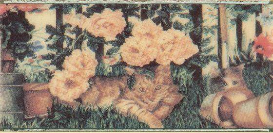 Grand Elegance country life cats su crema B de Petracer's Ceramics   Carrelage céramique