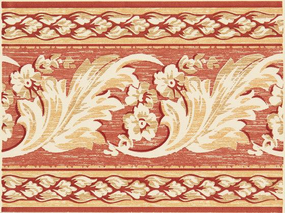 Grand Elegance fleures nicole rosso su crema de Petracer's Ceramics | Carrelage céramique