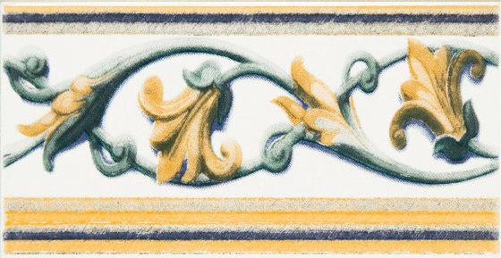 Grand Elegance fleures giglio policromo su panna by Petracer's Ceramics | Ceramic tiles