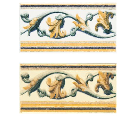 Grand Elegance fleures giglio policromo su crema de Petracer's Ceramics | Carrelage céramique