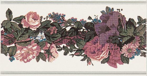 Grand Elegance fleures garland su panna A by Petracer's Ceramics | Ceramic tiles