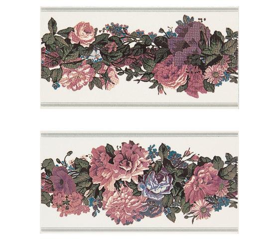 Grand Elegance fleures garland su panna B de Petracer's Ceramics | Carrelage céramique