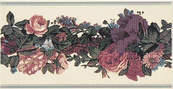 Grand Elegance fleures garland su crema A by Petracer's Ceramics | Ceramic tiles