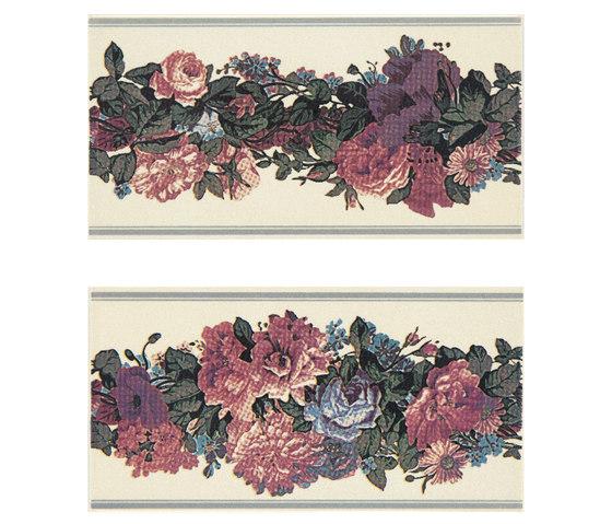Grand Elegance fleures garland su crema B de Petracer's Ceramics | Carrelage céramique
