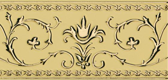 Grand Elegance narciso A oro su crema by Petracer's Ceramics | Ceramic tiles