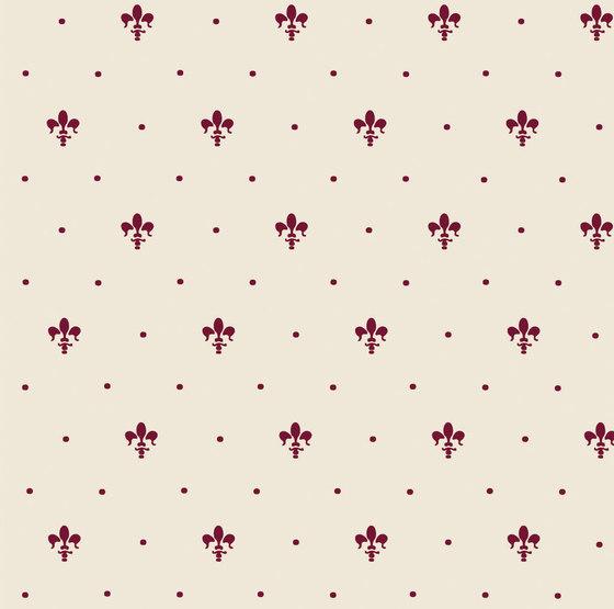 Grand Elegance giglio bordeaux su panna by Petracer's Ceramics | Ceramic tiles