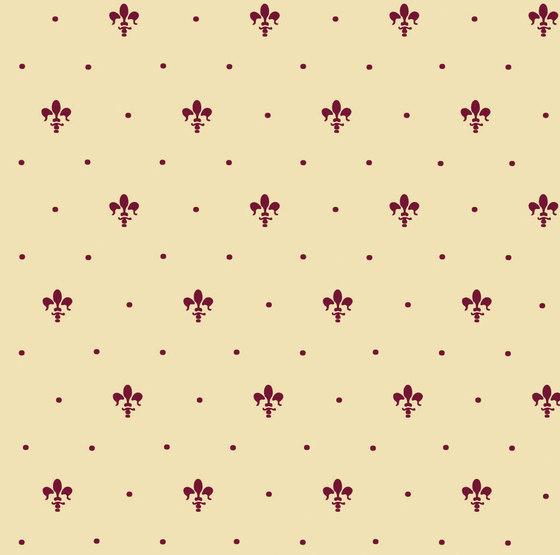 Grand Elegance giglio bordeaux su crema by Petracer's Ceramics | Ceramic tiles