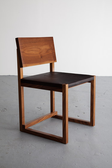 SQ1 Dining Chair Leather by David Gaynor Design | Visitors chairs / Side chairs