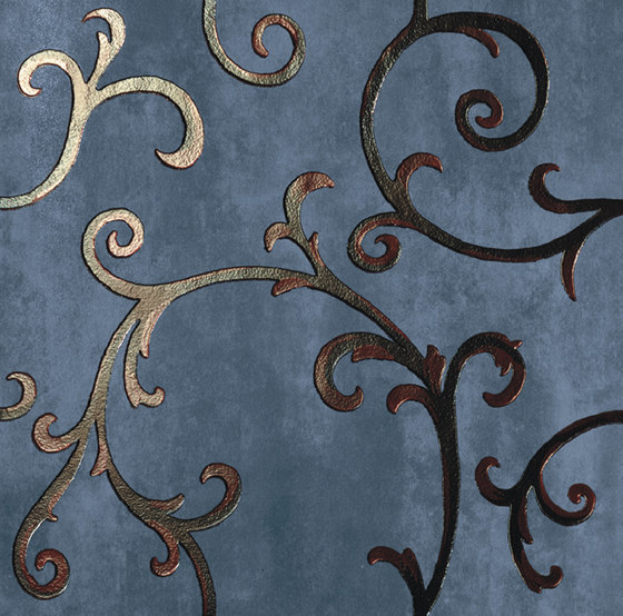Rinascimento Decorata zaffiro rame by Petracer's Ceramics | Ceramic tiles