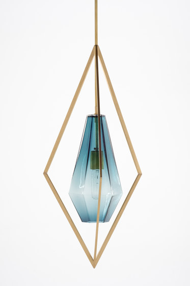 Tetra Pendant Light - Blue by Farrah Sit | General lighting