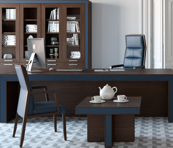 Belesa espresso azul by Ofifran | Executive desks