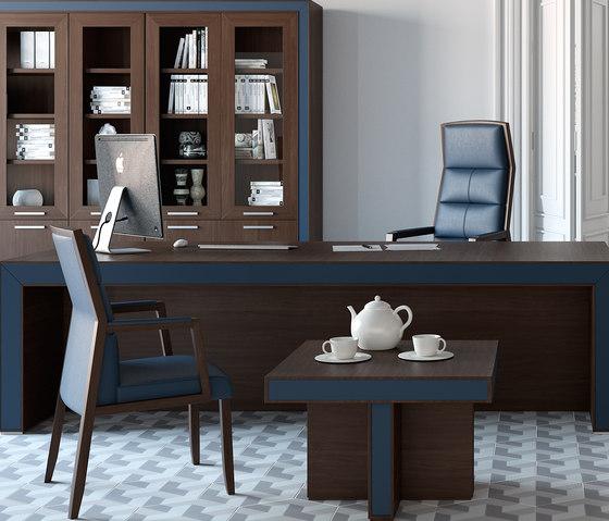 Belesa espresso azul di Ofifran | Scrivanie direzionali