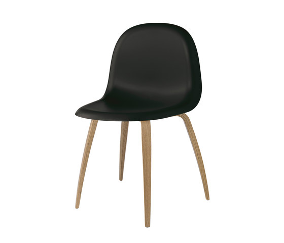 Gubi Chair – Wood Base by GUBI | Restaurant chairs