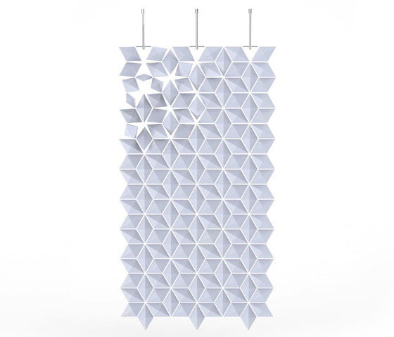 Hanging Room Divider Facet - paleblue by Bloomming | Space dividers