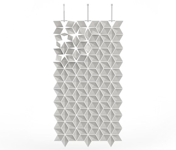 Hanging Room Divider Facet - pearlgray by Bloomming | Folding screens
