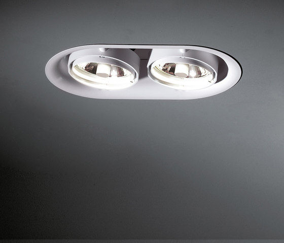 Thub metal 215 2x CDM-T GE by Modular Lighting Instruments | Recessed ceiling lights