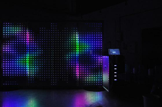 powerglass® RGB media façade by Peter Platz Spezialglas | Laminated glass