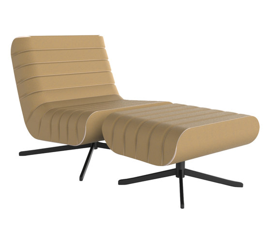 Riffel Lounge Armchair with Stool by Rossin | Armchairs
