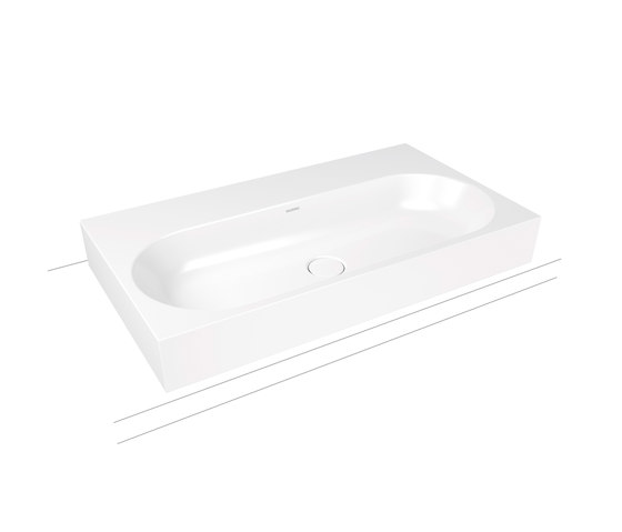 Centro countertop washbasin 120 mm alpine white di Kaldewei   Lavabi