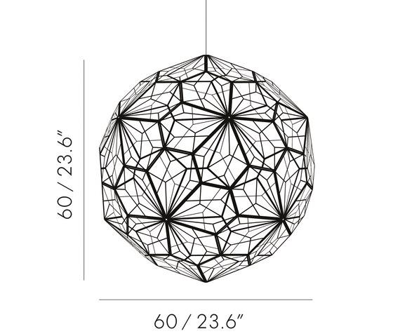 Etch Web Pendant Brass von Tom Dixon | Pendelleuchten