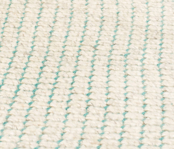 Nordic Flower ivory & turquoise by kymo | Rugs