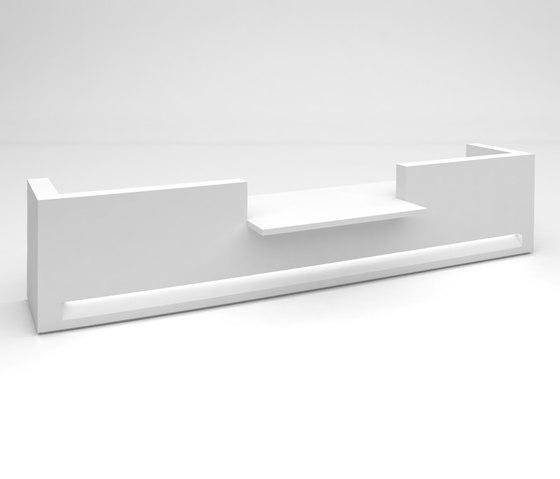 Blok Reception Desk Configuration 6 de Isomi | Comptoirs