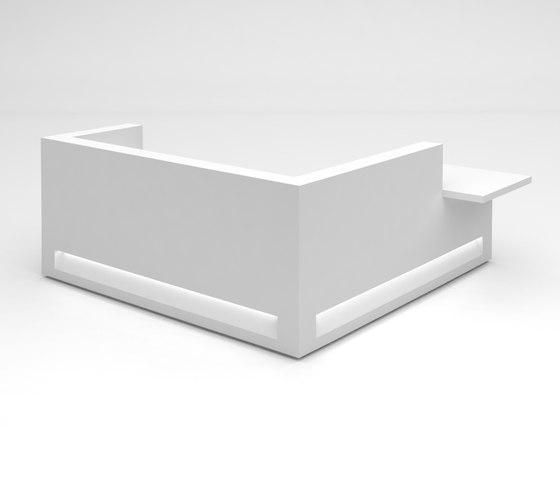Blok Reception Desk Configuration 9 de Isomi | Comptoirs
