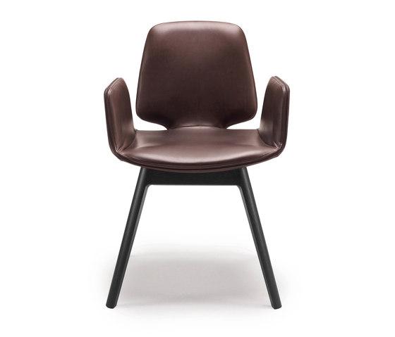 Tilda | Armchair with wooden frame 4-legs de Freifrau Sitzmöbelmanufaktur | Chaises