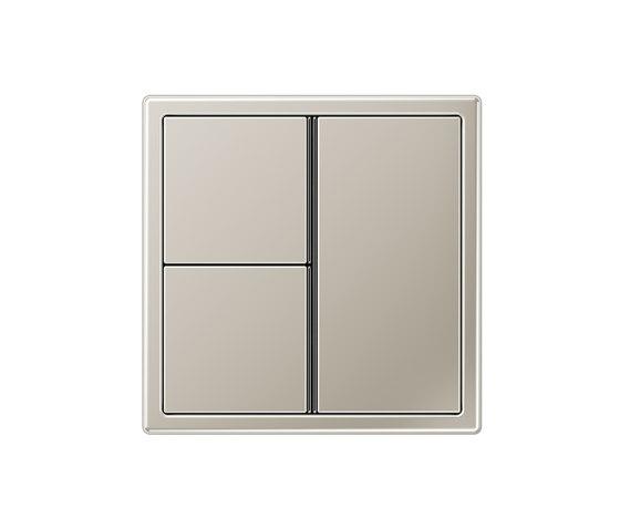LS 990 stainless steel 3 range switch di JUNG | interuttori pulsante