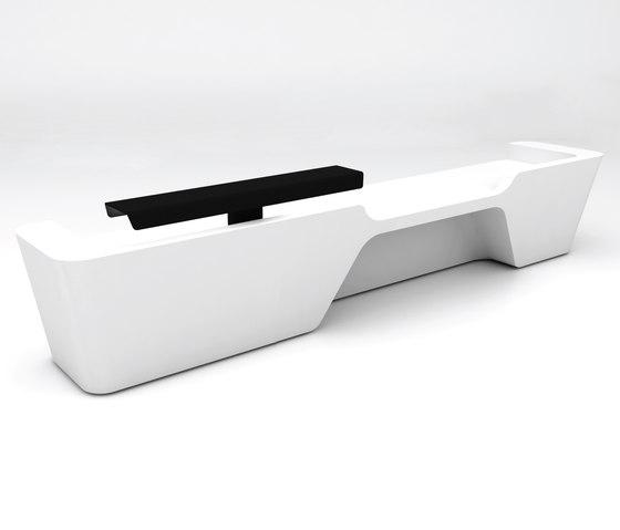 Mono Desk configuration 4 de Isomi | Comptoirs