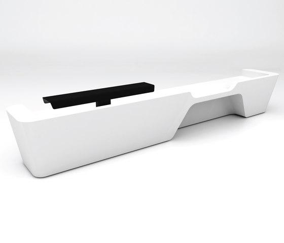 Mono Desk configuration 6 de Isomi | Banques d'accueil