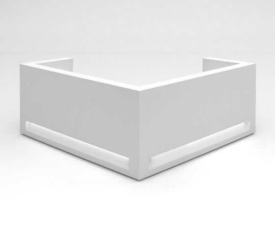 Blok Reception Desk Configuration 8 de Isomi | Comptoirs