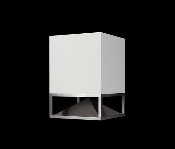 cube corian white von architettura sonora soundsysteme. Black Bedroom Furniture Sets. Home Design Ideas